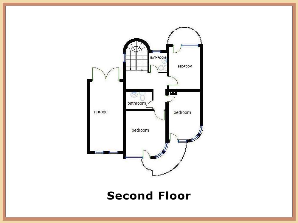 Second Floor Kitchen House Plan