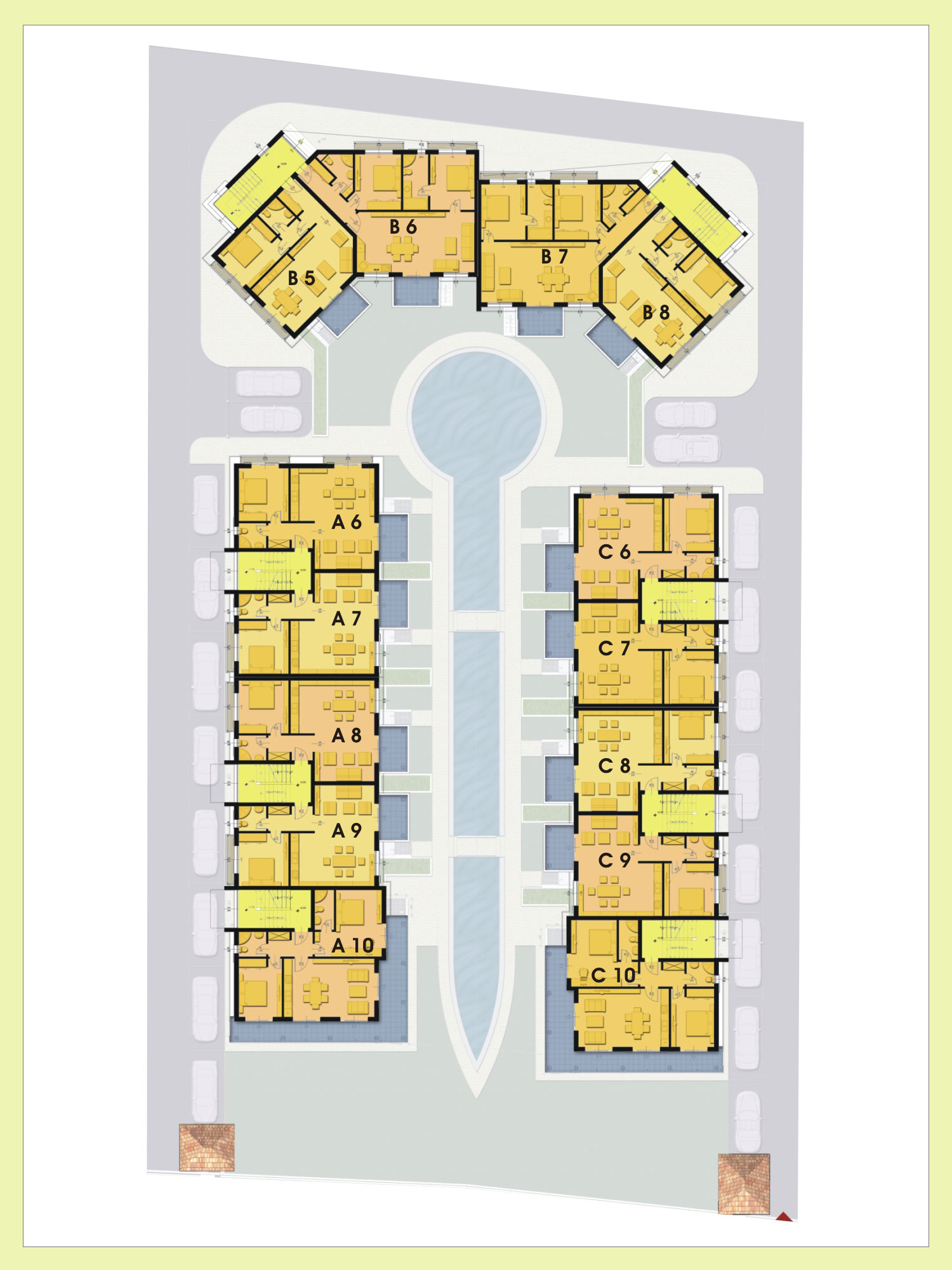 Paradise breeze residential complex for Apartment building plans for sale