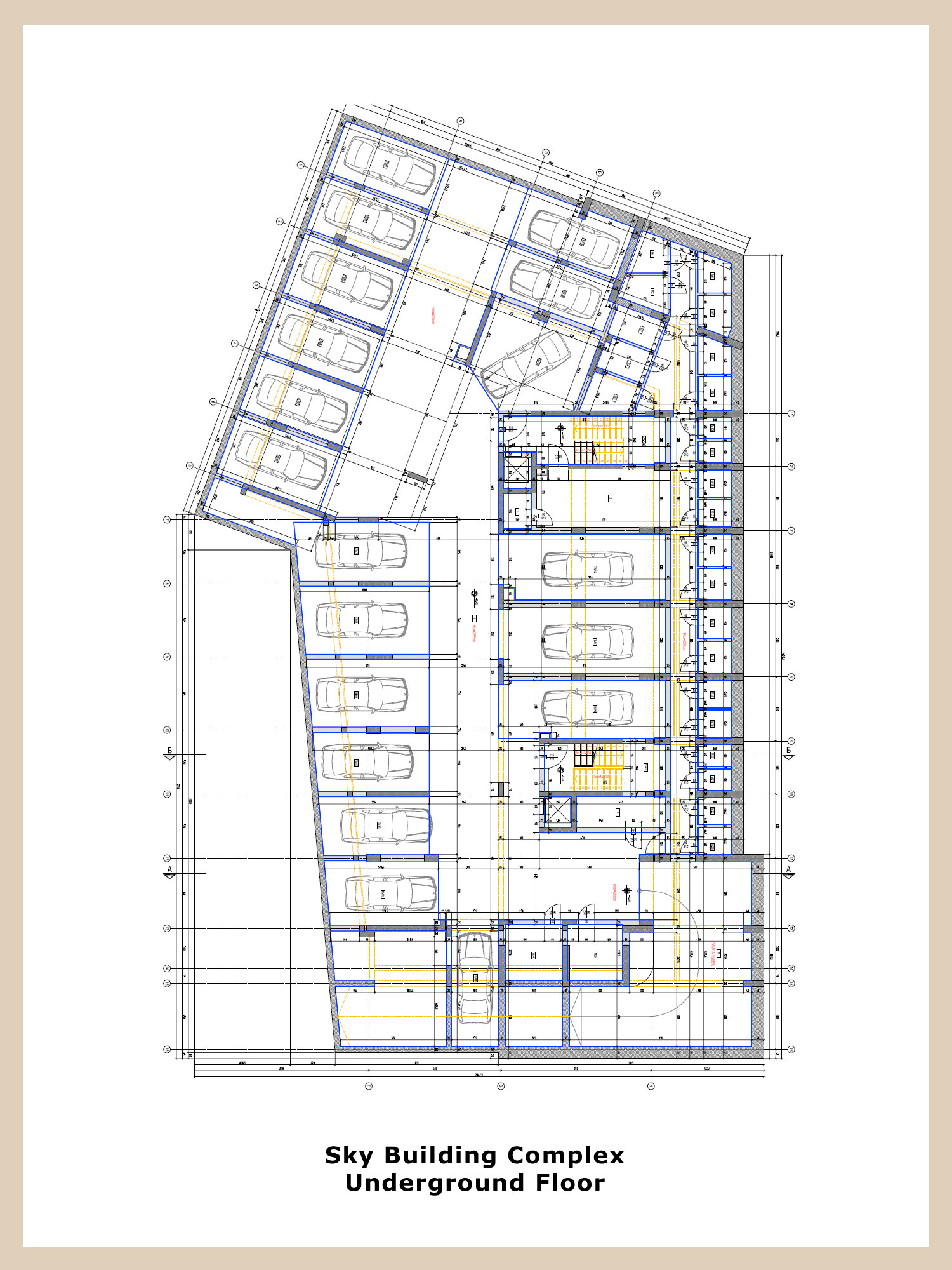 Sky building complex modern luxurious complex in the for Apartment complex building plans