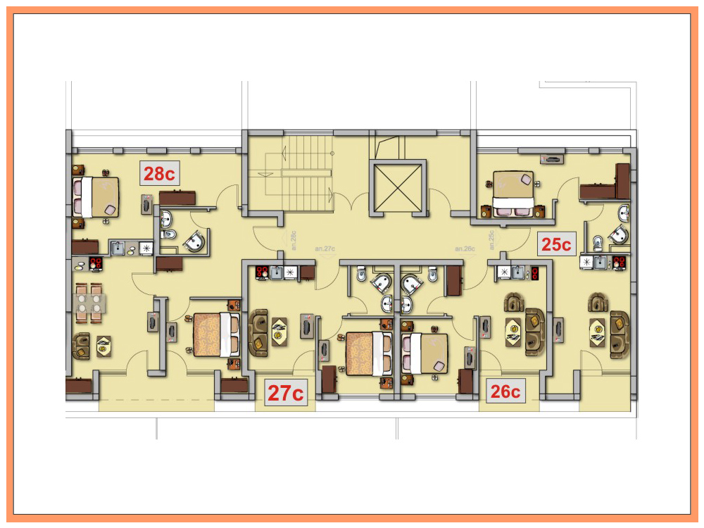 apartment plans. Apartment No 25C Floor Plan