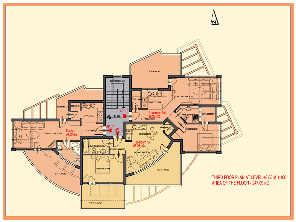 Apartments various types for sale in aheloy bulgaria for 1 bedroom hall kitchen plan