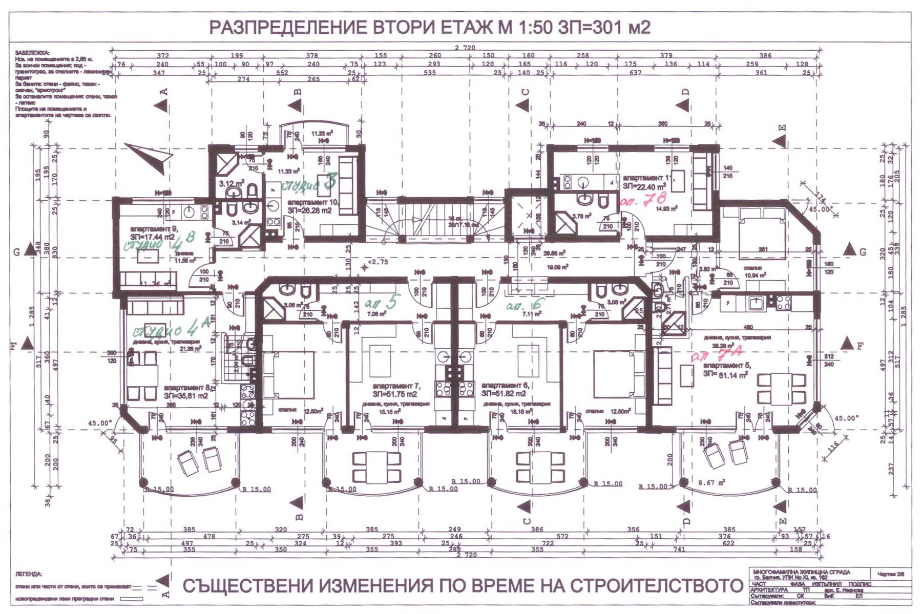 Balchik bay apartments second floor architectural floor plan apartment 3 malvernweather Images