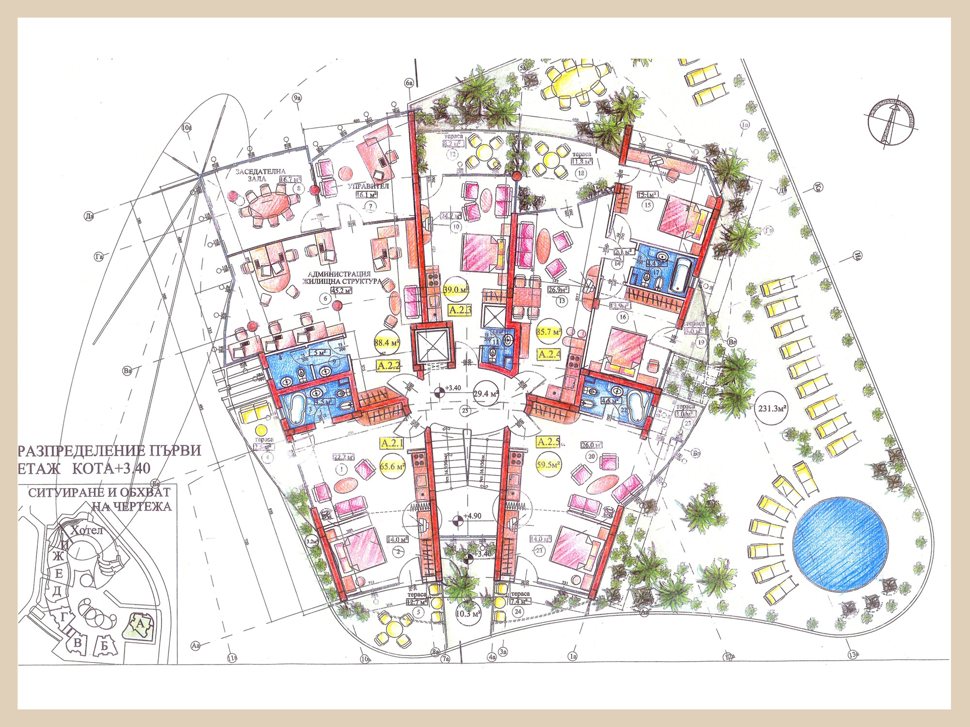 Free home plans apartment complex floor plans for Apartment complex building plans