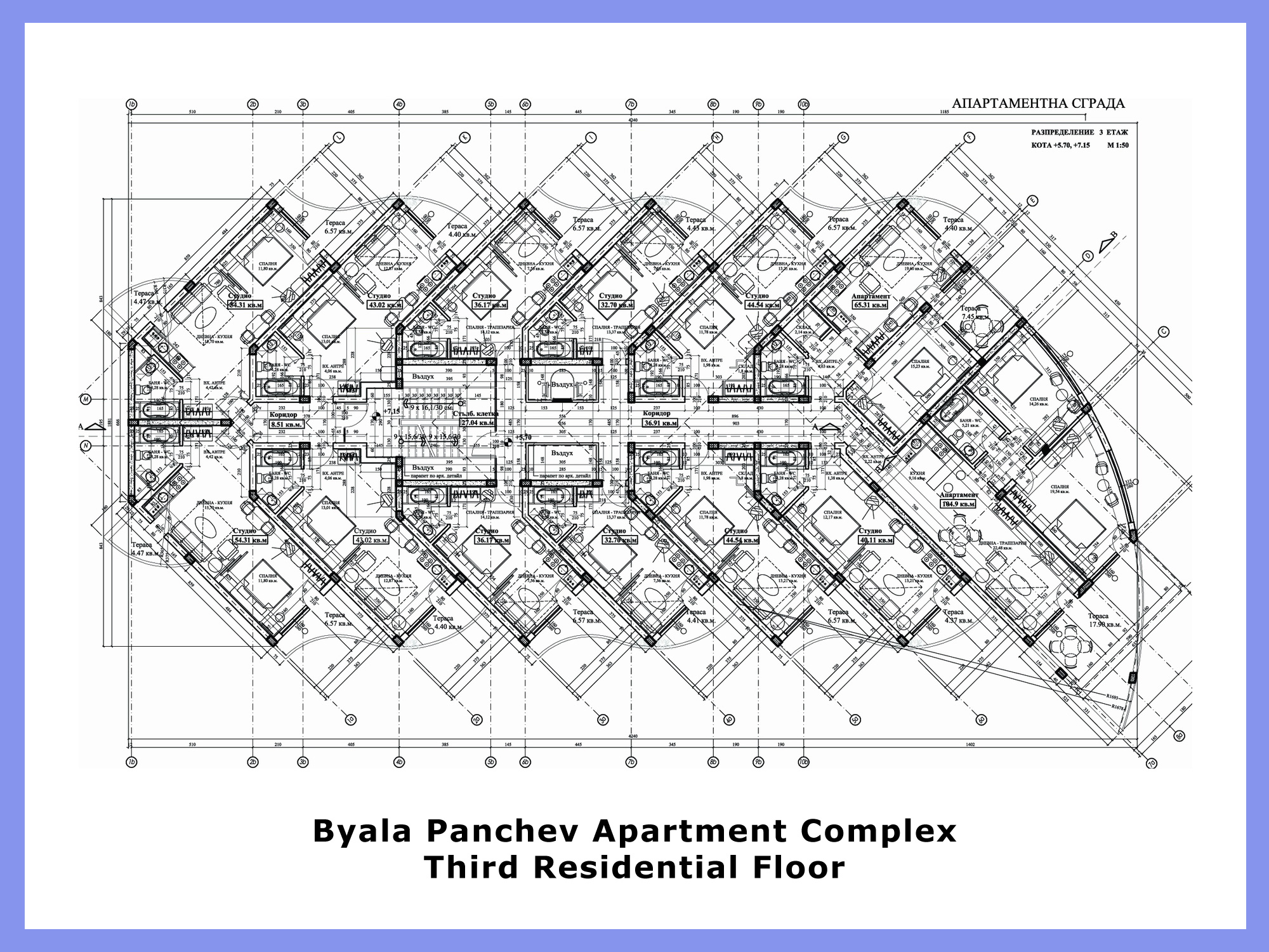 Byala panchev apartment complex for Apartment complex floor plans