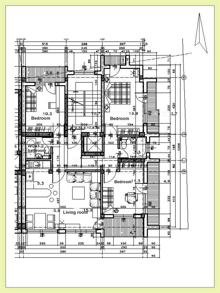 First Residential Floor Architectural Floor Plan