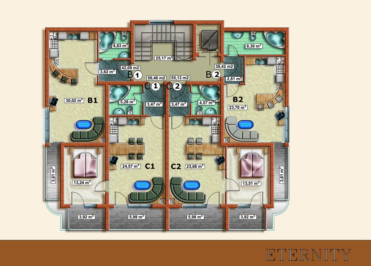 First floor architectural floor plan