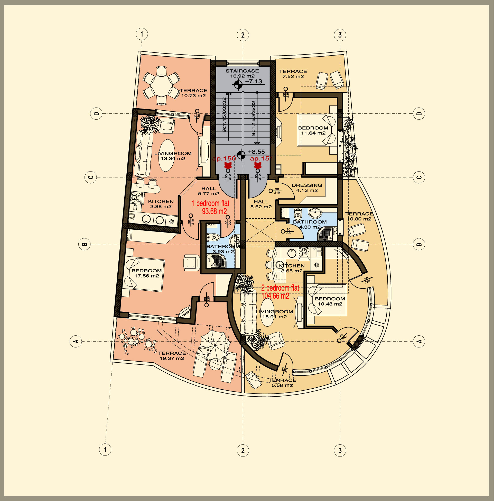 Floor Plans For 160 000 Of Apartment For Sale In Sunset Kosharitsa Near Sunny Beach