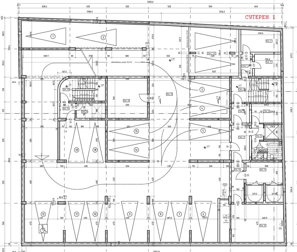 Basement Parking Design Pdf offices for rent in sofia, bulgaria - business center 'todor