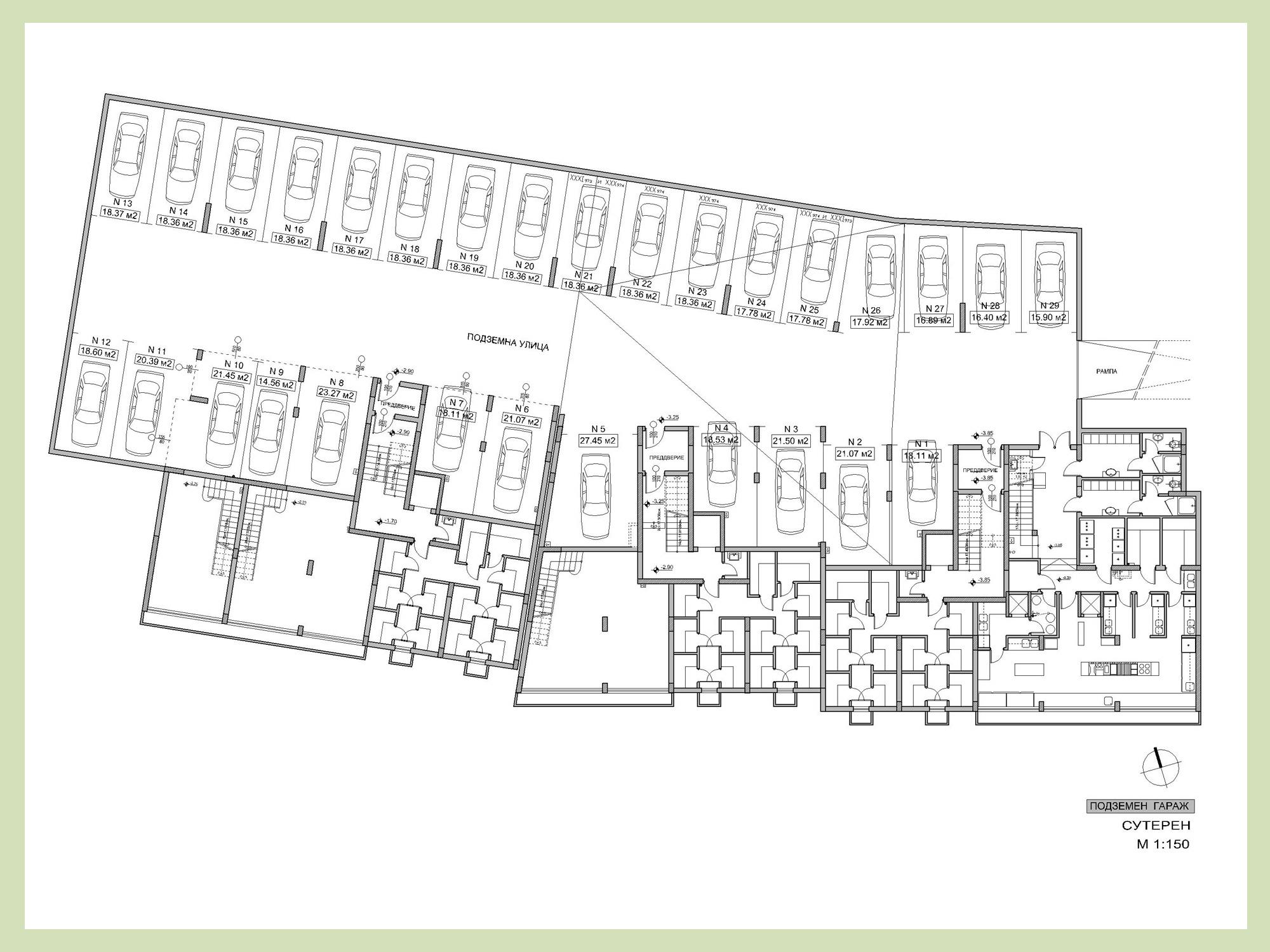 Properties and prices boyana fantasy sofia luxury for Underground garage design plans