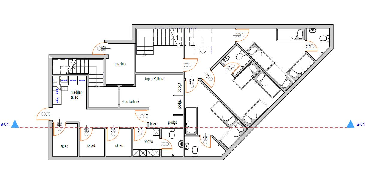 Floor plans of new residential complex near the sea in kiten for Apartment complex blueprints