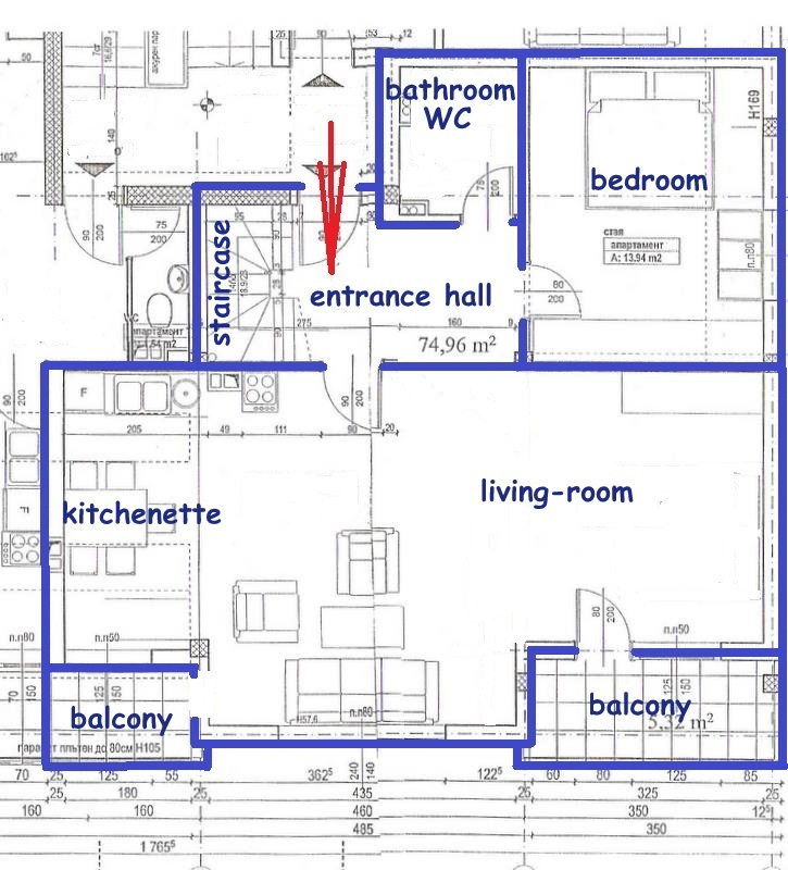 Floor plans of maisonette in sandanski for Maisonette plans