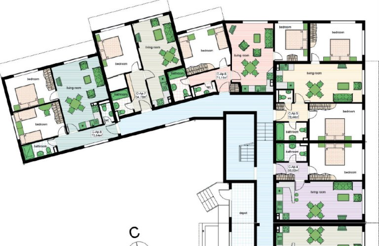 Floor Plans Of Two Bedroom Apartment In Complex Top Lodge