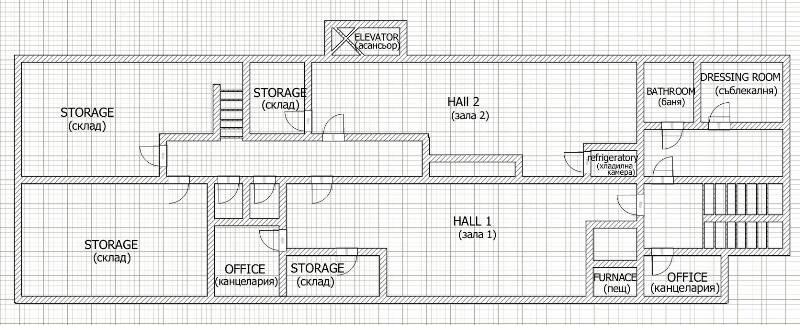 Floor plans of ready to use bakery workshop in vidin for Bakery floor plan