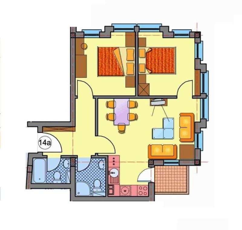 Floor plans of Pirin Golf & Country Club