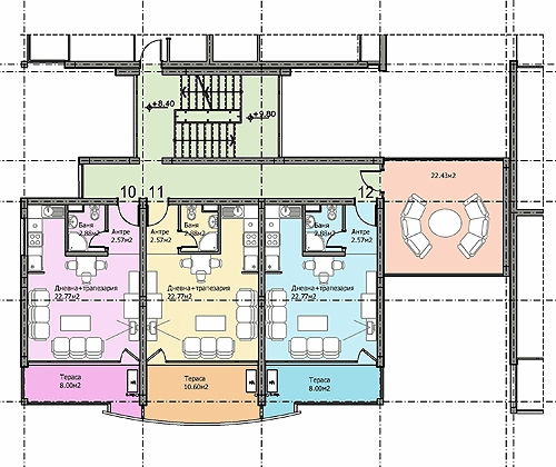 Floor plans of furnished apartments in complex elite iii for Apartment complex floor plans