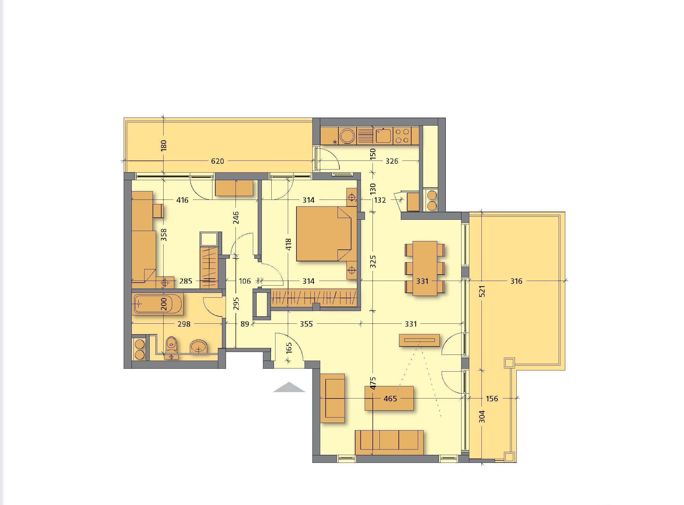 Floor Plans Of Two Bedroom Apartment In Vitosha Tulip