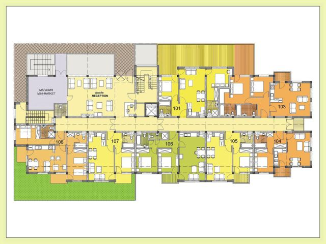 Floor plans of fully furnished 2 bedroom apartment in for Apartment complex floor plans
