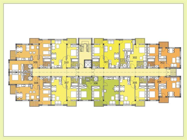 Floor plans of furnished 2 bedroom apartment in chamkoria for Apartment complex floor plans