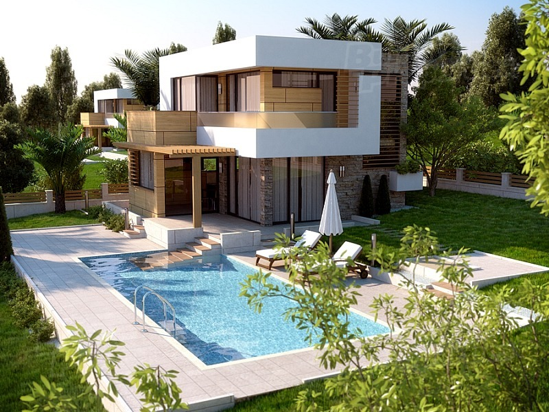 Luxury project sunset villas near sunny beach bulgaria for Beach villa design ideas